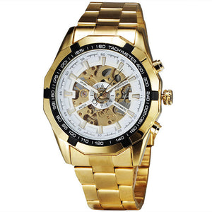 Gold Skeleton Vintage Mechanical Watches