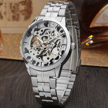 Full Stainless Steel Skeleton Mechanical Watches