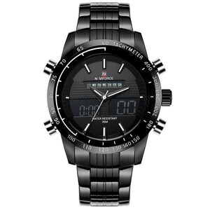Full Steel Men's Dual Display Watches