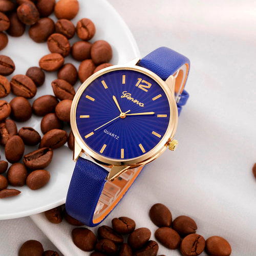 Women's Casual Leather Dress Watches