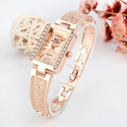 Women Rose Gold Bracelet Watches