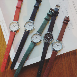 Retro Leather Dress Watches
