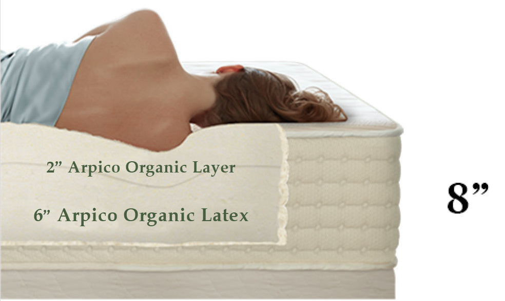 10 inches natural latex mattress