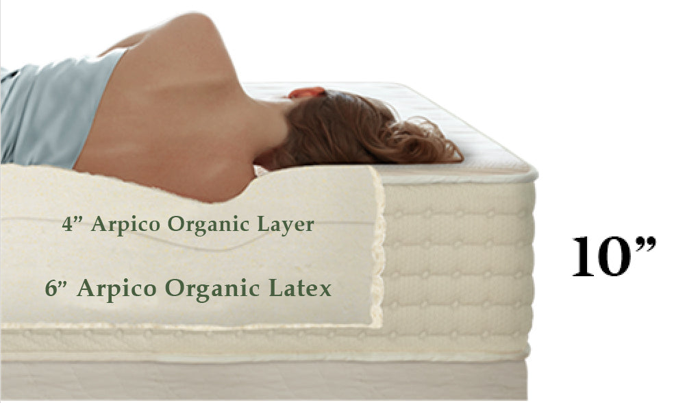 12 inches natural latex mattress
