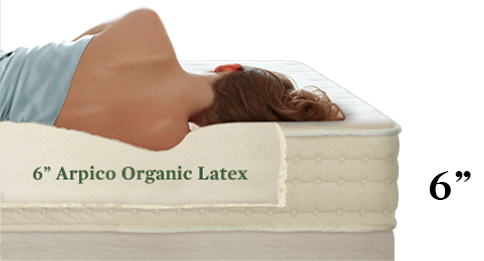 9 inches natural latex mattress