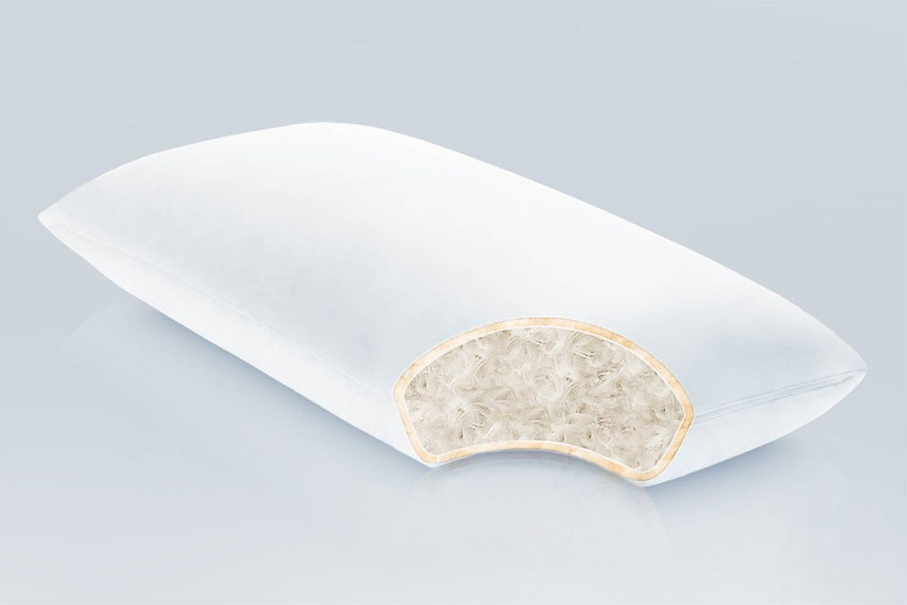 Cotton Encased Down Blend Pillow - PlushBeds
