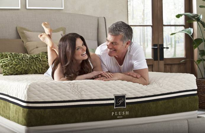 Couple on PlushBeds mattress