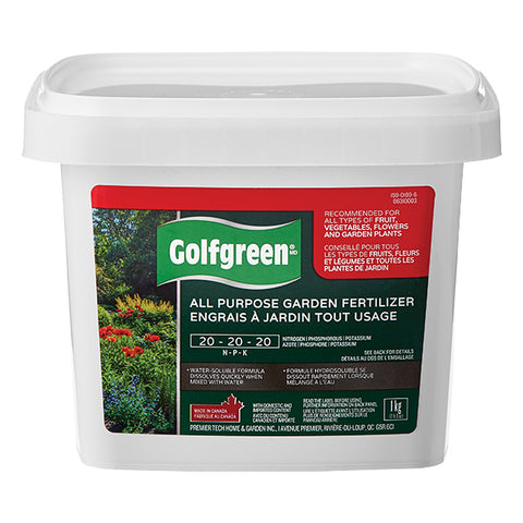 GOLFGREEN® All Purpose Garden Fertilizer, 20-20-20, 1-kg