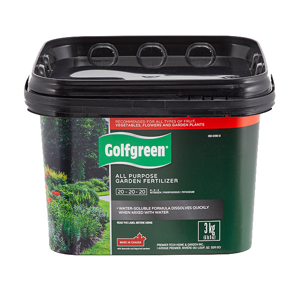 GOLFGREEN® All Purpose Garden Fertilizer, 20-20-20, 3-kg
