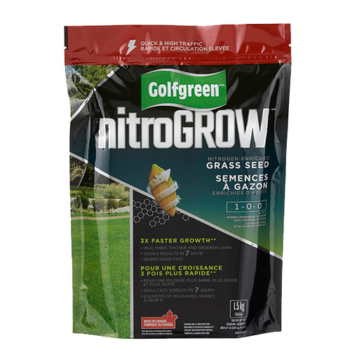 GOLFGREEN® NITROGROW Quick & High Traffic Grass Seed, 1.5-kg