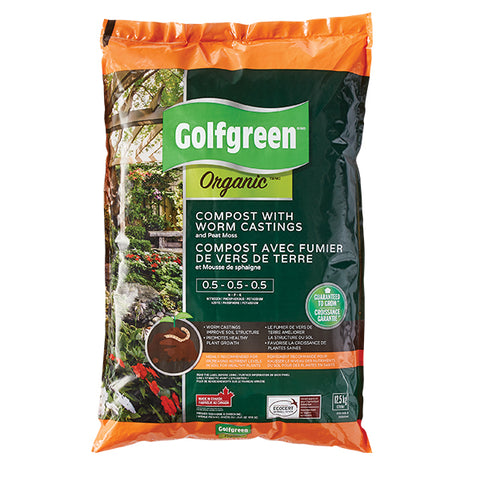 COMPOST BIOLOGIQUE AVEC TURRICULES GOLFREENMD, 25-L