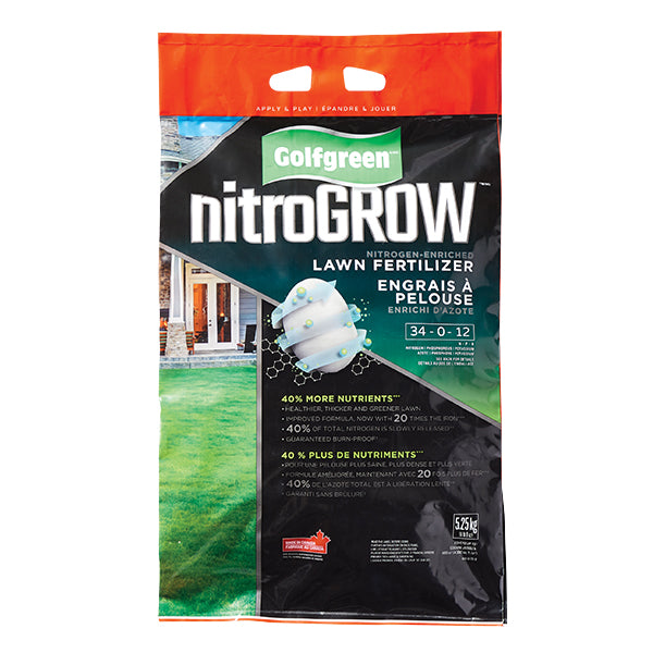 GOLFGREEN® NITROGROW Lawn Fertilizer, 34-0-12, 400-m2