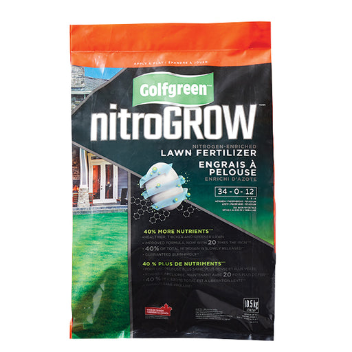 GOLFGREEN® NITROGROW Lawn Fertilizer, 34-0-12, 800-m2