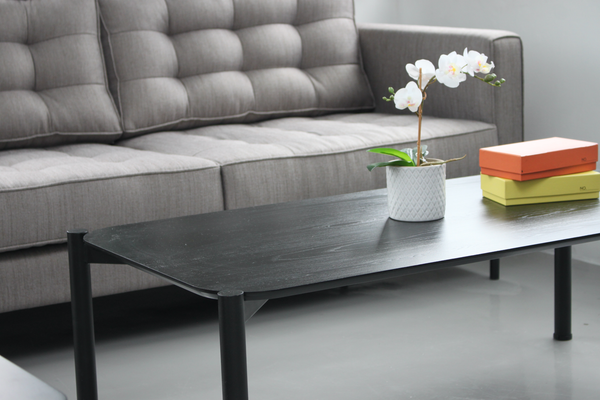 TANA Coffee Table (Rectangular Black Top)