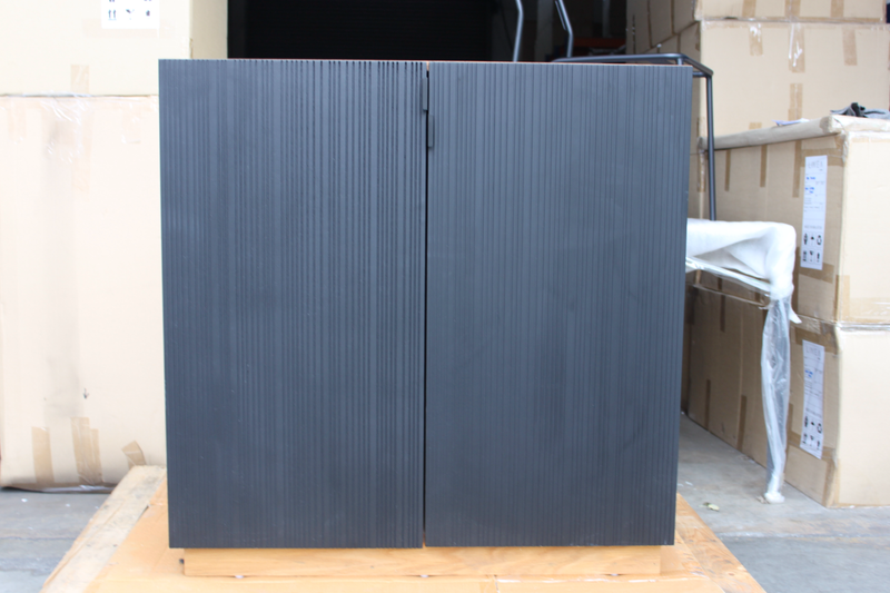TANA Low Cabinet (American White Oak Body with Black Door) Recycle Exhibit Sale at Seremban 2 Showroom. Unit No. 2
