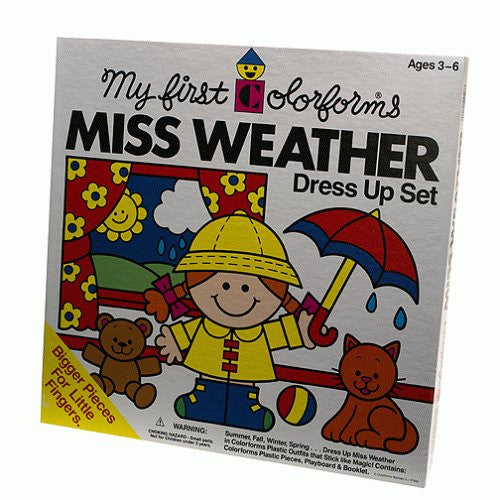 MISS WEATHER DRESS UP COLORFORMS SET