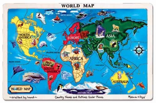 Melissa & Doug World Map Wooden Jigsaw Puzzle