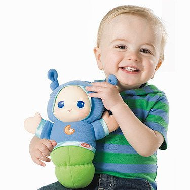 Playskool Lullaby Gloworm Plush Case (Boy Blue #A1203)