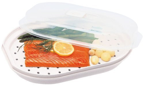 Progressive International Microwavable Fish & Veggie Steamer