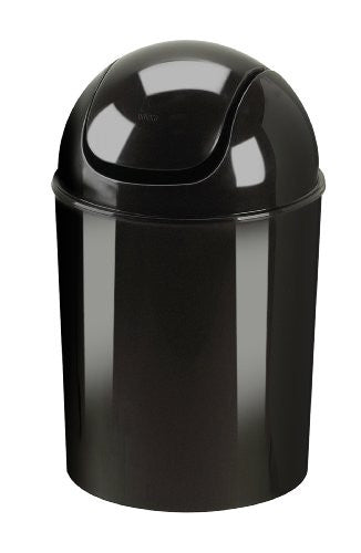 Umbra Mini Recycled Polypropylene Waste Can, Black