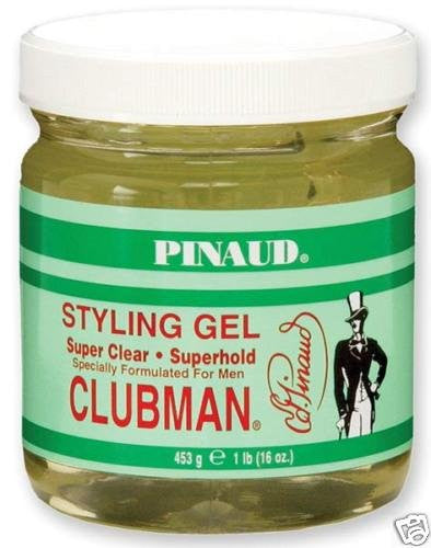 Clubman Style Gel Super Clear Super Hold 16oz Jar