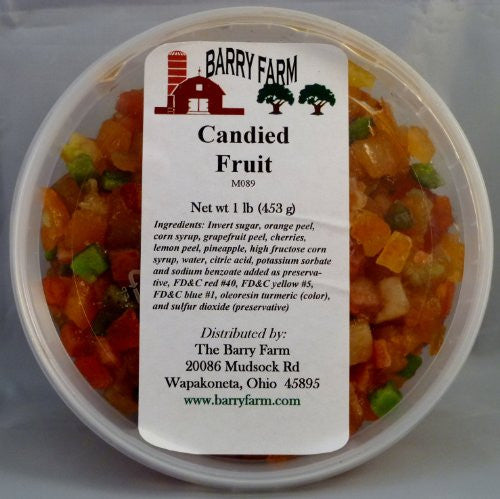 Candied Mixed Fruit 16 oz.