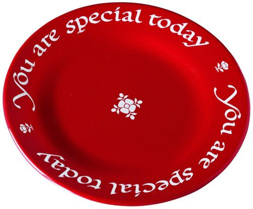 "You Are Special Today Original Round Plate 10.5"" diam (gift boxed with pen)"