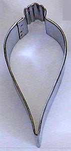 "Ornament Tear Drop 3.5"" Tinplated Cookie Cutter"