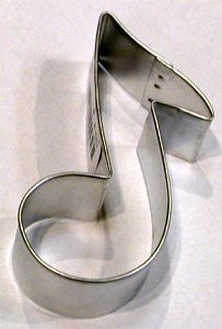 "Music Note 3.5"" Tinplated Cookie Cutter"