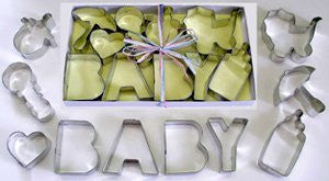 Baby Shower Tinplated Cookie Cutter 10pc Set