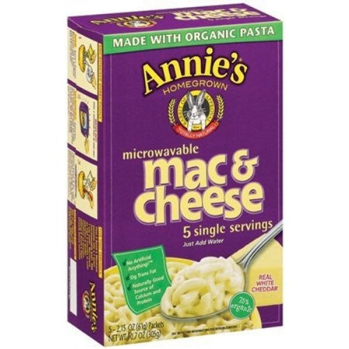 Annie's Homegrown Organic Microwave Macaroni And Cheese Single Serve 10.7 OZ