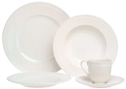 Italian Countryside 45 Piece Dinnerware Set w/Serving Accessories