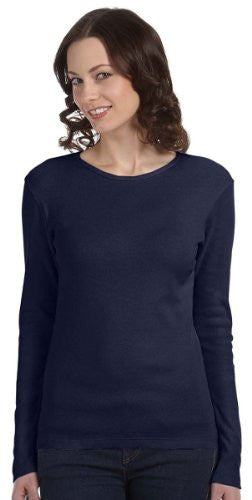 Bella + Canvas Womens Baby Rib Long-Sleeve T-Shirt