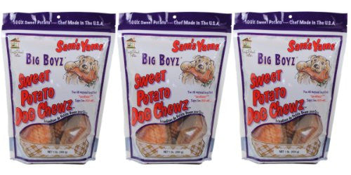 Sweet Potato Dog Chewz - 3 Pack- Value Pack Big Boyz