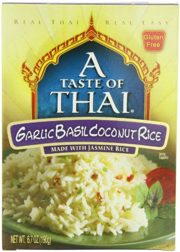 A Taste of Thai Garlic Basil Rice Box 6.7 OZ