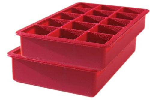 Tovolo Perfect Cube Ice Trays, Chili Pepper - Set of 2