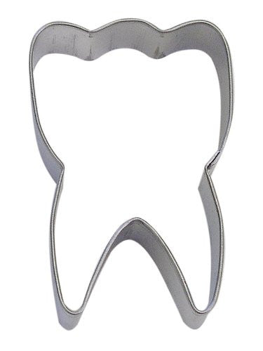 "Tooth 3"" Tinplated Cookie Cutter"