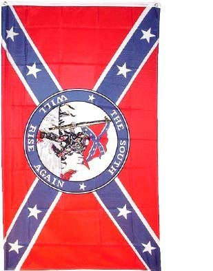 The South Will Rise Again Polyester Flag - 3'x5'