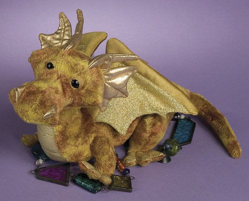 Plush Topaz Golden Dragon 15""