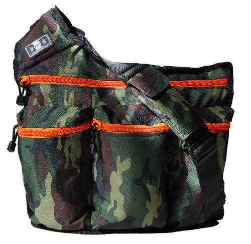 Camouflage/Orange Zipper