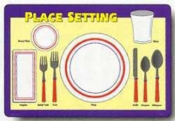 Painless Learning Place Setting Placemat