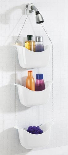 Umbra Bask Shower Caddie (Color: White/Nickel)