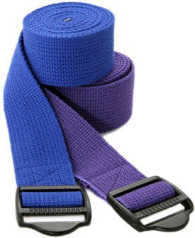Yoga Strap - Plastic Buckle - 8 Feet - Black