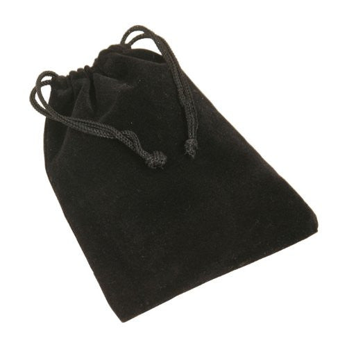 Velvet Bag with draw string, Black
