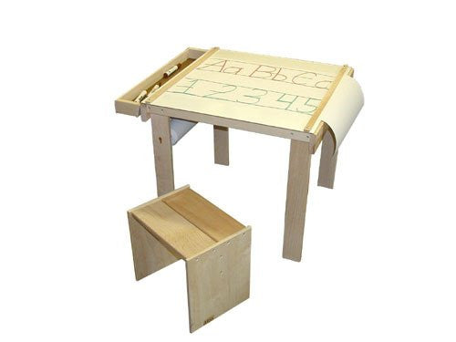 Art Table,wood tray, paper cutters, paper holder