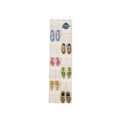 Clear Vinyl 24-pocket Over the Door Shoe Organizer