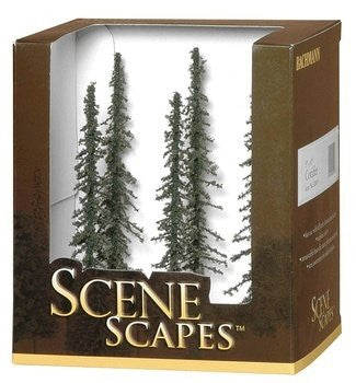 "Scenescapes Conifer Trees, 5-6"" (6)"