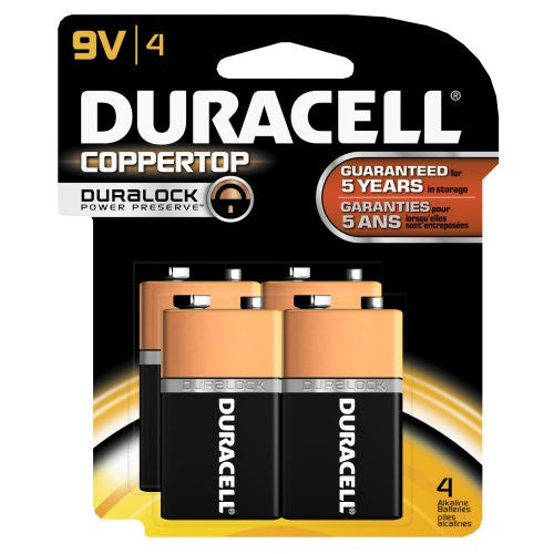 Duracell CopperTop 9V Alkaline Battery Bulk Pack (MN -1604)