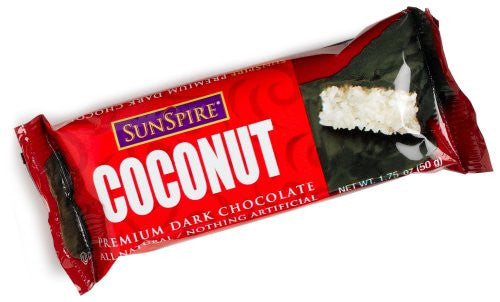 Coconut Dark Chocolate Bar 1.75 OZ (Pack of 12)