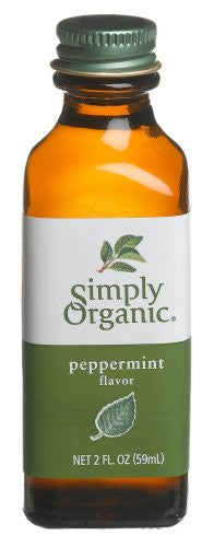 Simply Organic Peppermint Flavor Certified Organic, 2-Ounce Containers (Pack of 6)